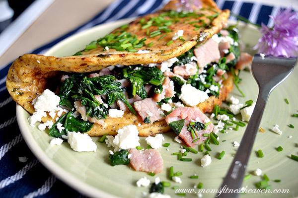 spinach omlette momsfitnessheaven