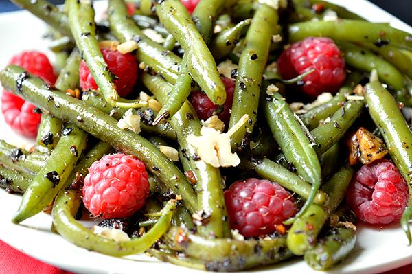 green beans raspberry moms fitness heaven