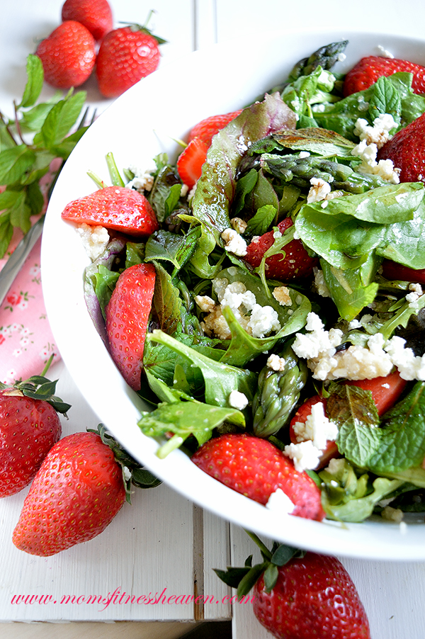 spring salad moms fitness heaven