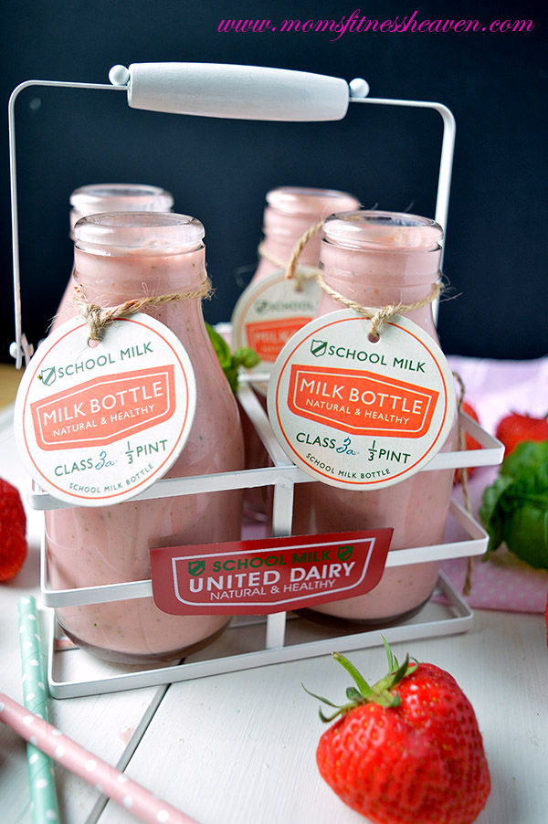 0 strawberry- basil smoothie momsfitnessheaven